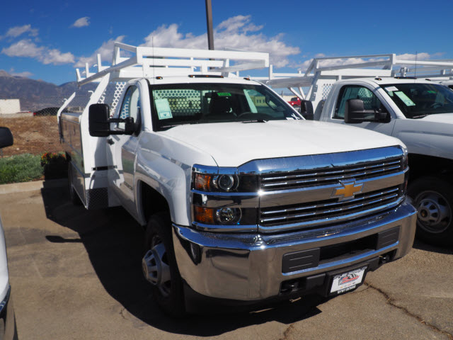 2017 Silverado 3500 Regular Cab DRW, Contractor Body #23209 - photo 3
