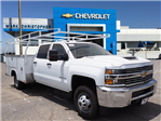 2018 Silverado 3500 Crew Cab DRW 4x2,  Harbor Service Body #23412 - photo 1