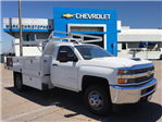 2018 Silverado 3500 Regular Cab DRW 4x2,  Royal Contractor Body #23435 - photo 1