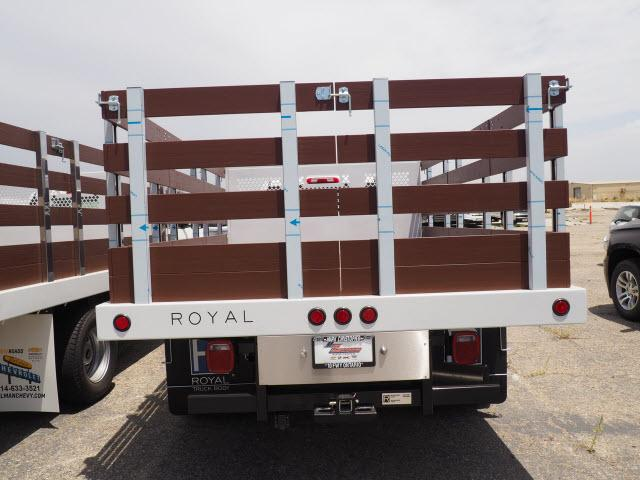 2018 Silverado 3500 Regular Cab DRW 4x2,  Royal Stake Bed #23443 - photo 5