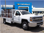 2018 Silverado 3500 Regular Cab DRW 4x2,  Royal Stake Bed #23443 - photo 1