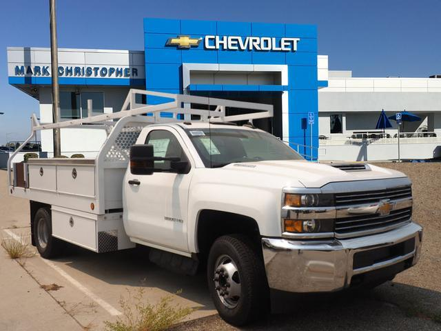 2018 Silverado 3500 Regular Cab DRW 4x2,  Royal Contractor Body #23445 - photo 1