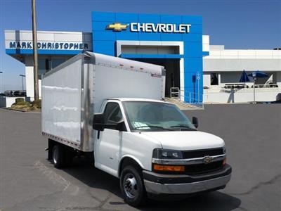 2019 Express 3500 4x2,  Morgan Parcel Aluminum Cutaway Van #23717 - photo 1