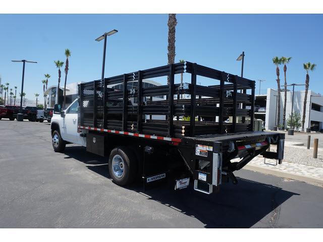 2021 Silverado 3500 Regular Cab 4x2,  Morgan Truck Body Stake Bed #24363 - photo 11