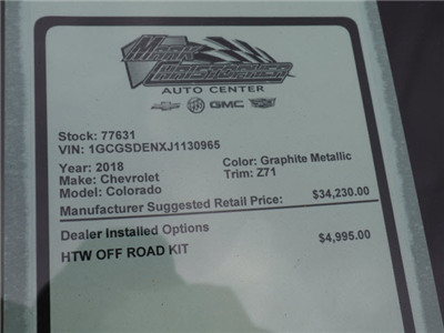 2018 Colorado Crew Cab, Pickup #77631 - photo 16