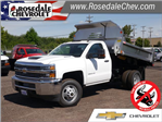 2018 Silverado 3500 Regular Cab DRW 4x4,  Monroe MTE-Zee SST Series Dump Body #186414 - photo 1
