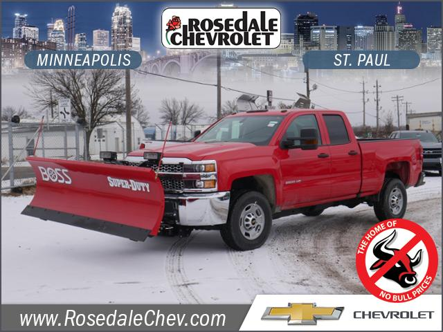 2019 Silverado 2500 Double Cab 4x4,  BOSS Snowplow Pickup #195496 - photo 1