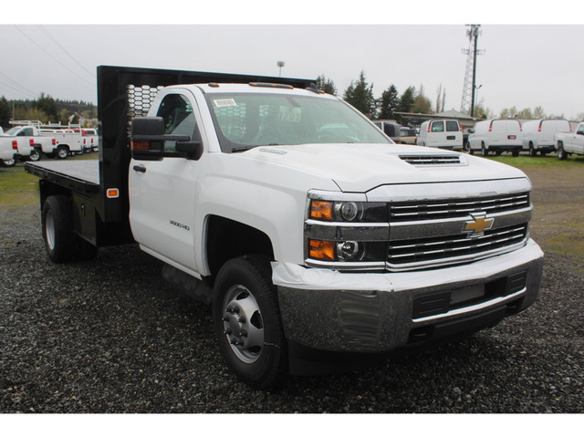 2018 Silverado 3500 Regular Cab DRW 4x4, Knapheide Platform Body #F41581 - photo 6