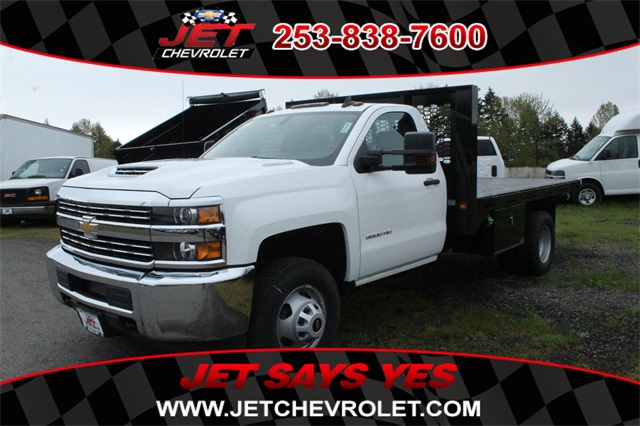 2018 Silverado 3500 Regular Cab DRW 4x2,  Knapheide Heavy-Hauler Junior Platform Body #F42290 - photo 1