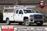 2019 Sierra 2500 Double Cab 4x2, Harbor Black Boss Platform Body #C19213 - photo 1