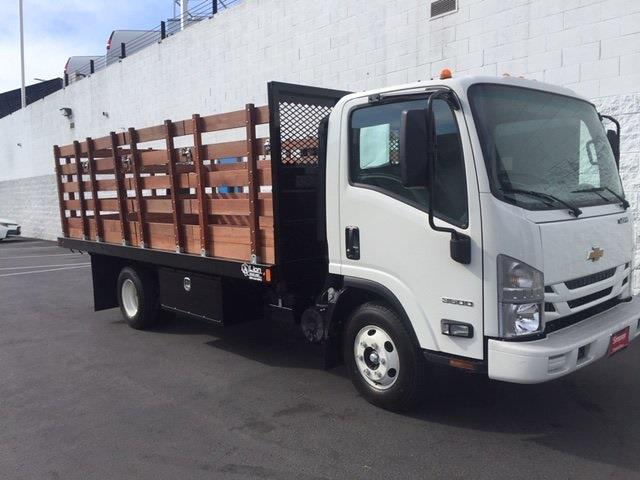 2021 LCF 3500 4x2,  Lion Truck Body Stake Bed #200695 - photo 3