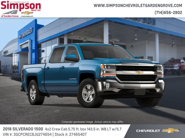 2018 Silverado 1500 Crew Cab 4x2,  Pickup #274654DT - photo 4
