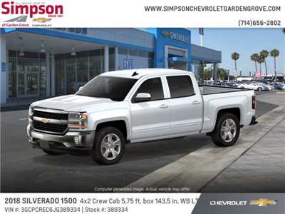 2018 Silverado 1500 Crew Cab 4x2,  Pickup #389334 - photo 3