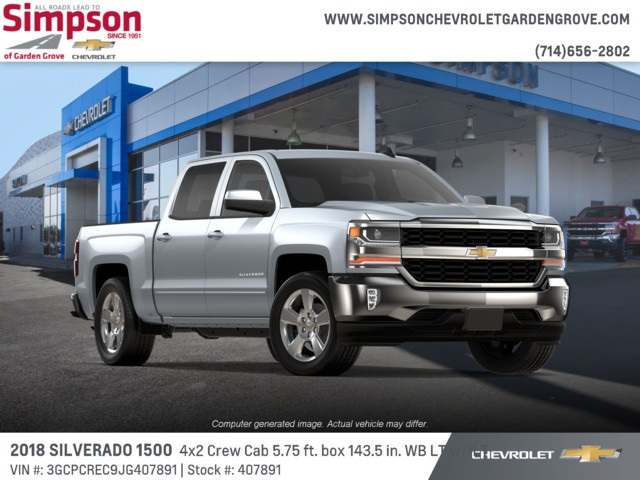 2018 Silverado 1500 Crew Cab 4x2,  Pickup #407891 - photo 4