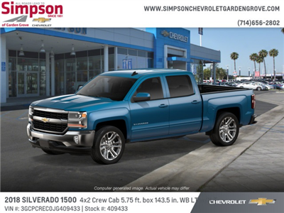 2018 Silverado 1500 Crew Cab 4x2,  Pickup #409433 - photo 3