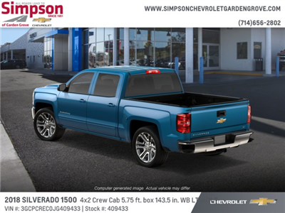 2018 Silverado 1500 Crew Cab 4x2,  Pickup #409433 - photo 2