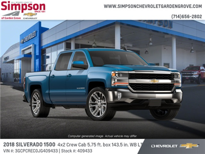 2018 Silverado 1500 Crew Cab 4x2,  Pickup #409433 - photo 4