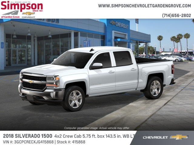 2018 Silverado 1500 Crew Cab 4x2,  Pickup #415868 - photo 3