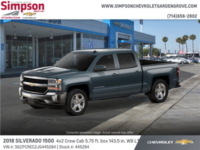 2018 Silverado 1500 Crew Cab 4x2,  Pickup #445284 - photo 3