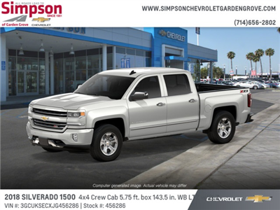 2018 Silverado 1500 Crew Cab 4x4,  Pickup #456286 - photo 3