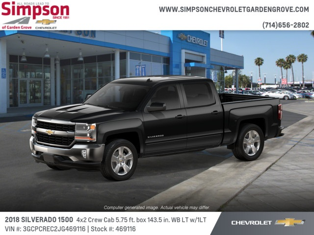 2018 Silverado 1500 Crew Cab 4x2,  Pickup #469116 - photo 3