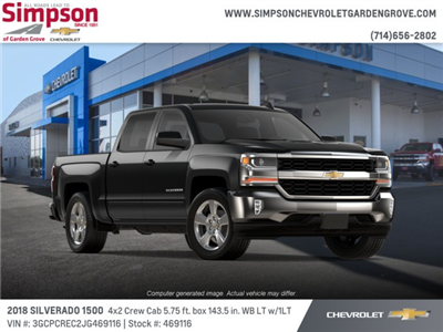 2018 Silverado 1500 Crew Cab 4x2,  Pickup #469116 - photo 4