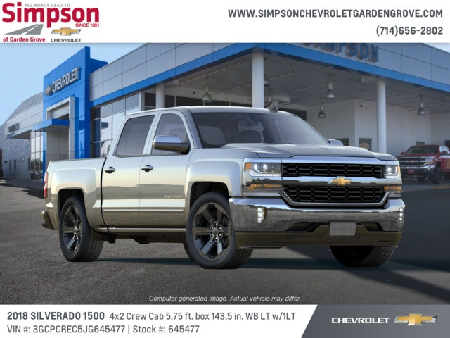2018 Silverado 1500 Crew Cab 4x2,  Pickup #645477 - photo 4