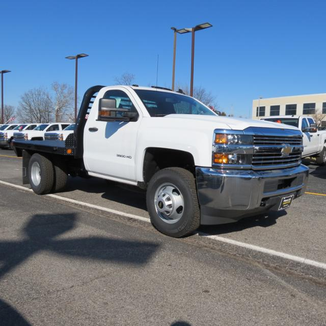 2017 Silverado 3500 Regular Cab DRW 4x4, Platform Body #FK1461 - photo 25