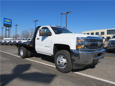 2017 Silverado 3500 Regular Cab DRW 4x4, Platform Body #FK1461 - photo 1