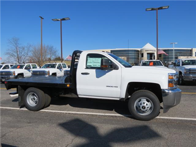 2017 Silverado 3500 Regular Cab DRW 4x4, Platform Body #FK1461 - photo 3