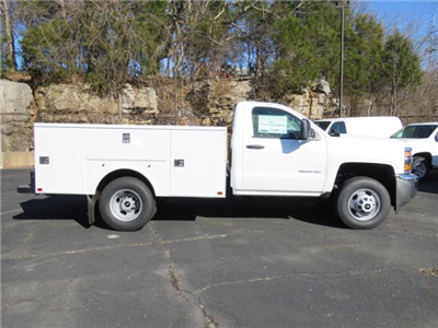 2017 Silverado 3500 Regular Cab DRW 4x4,  Palfinger Service Body #FK1485 - photo 3
