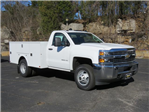 2017 Silverado 3500 Regular Cab DRW 4x4,  Palfinger Service Body #FK1485 - photo 1