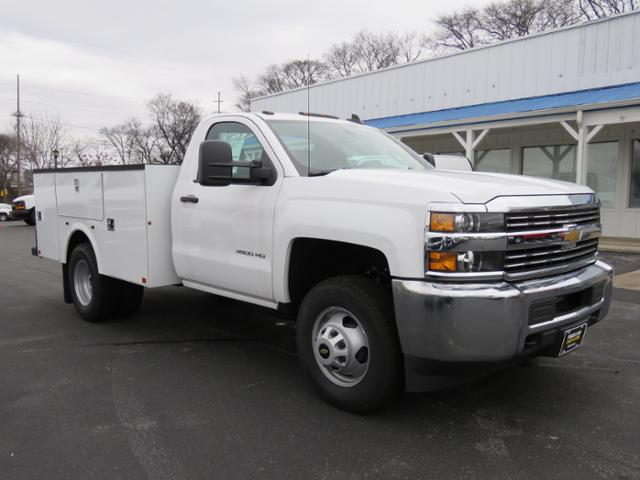 2017 Silverado 3500 Regular Cab DRW 4x4,  Palfinger Service Body #FK1525 - photo 1