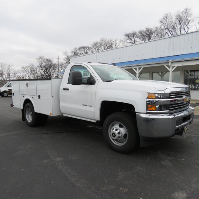 2017 Silverado 3500 Regular Cab DRW 4x4,  Palfinger Service Body #FK1525 - photo 19