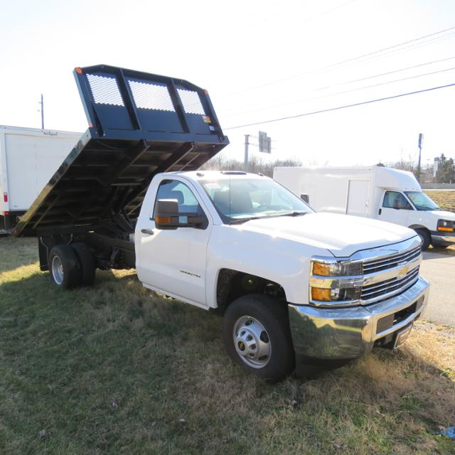 2017 Silverado 3500 Regular Cab DRW 4x4, Platform Body #FK1674 - photo 11