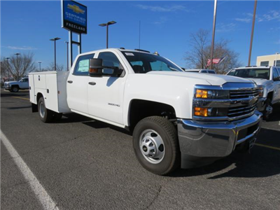 2017 Silverado 3500 Crew Cab DRW 4x4, Reading Classic II Steel Service Body #FK1784 - photo 1