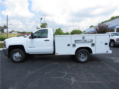 2018 Silverado 3500 Regular Cab DRW 4x4,  Reading SL Service Body #JF232145 - photo 8