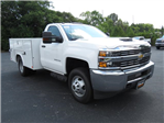 2018 Silverado 3500 Regular Cab DRW 4x4,  Reading SL Service Body #JF232145 - photo 3