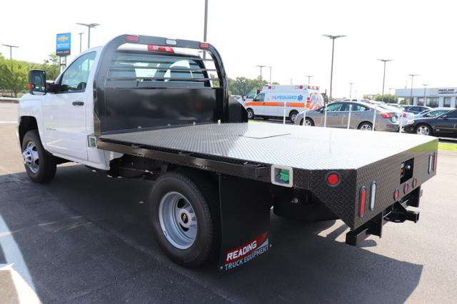 2018 Silverado 3500 Regular Cab DRW 4x4,  Reading Platform Body #JF232242 - photo 5