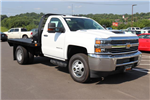 2018 Silverado 3500 Regular Cab DRW 4x4,  Reading Platform Body #JF232242 - photo 1