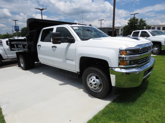 2018 Silverado 3500 Crew Cab DRW 4x4,  Rugby Dump Body #JF262522 - photo 3