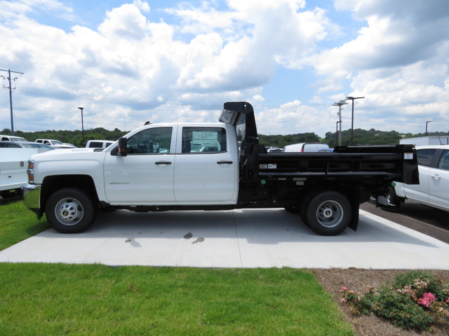 2018 Silverado 3500 Crew Cab DRW 4x4,  Rugby Dump Body #JF262522 - photo 6