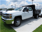 2018 Silverado 3500 Crew Cab DRW 4x4,  Rugby Dump Body #JF262522 - photo 1