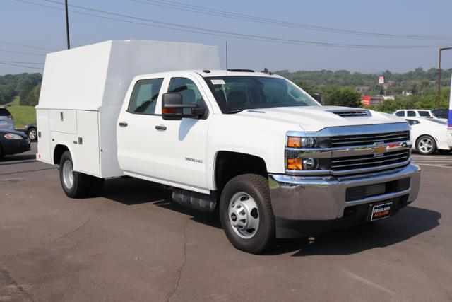 2018 Silverado 3500 Crew Cab DRW 4x4,  Reading Panel and Tapered Panel Service Utility Van #JF263292 - photo 3