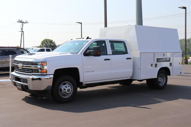 2018 Silverado 3500 Crew Cab DRW 4x4,  Reading Panel and Tapered Panel Service Utility Van #JF263292 - photo 1