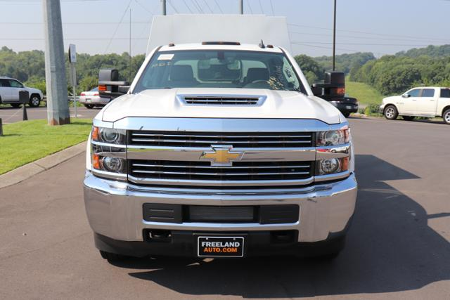 2018 Silverado 3500 Crew Cab DRW 4x4,  Reading Panel and Tapered Panel Service Utility Van #JF263292 - photo 8