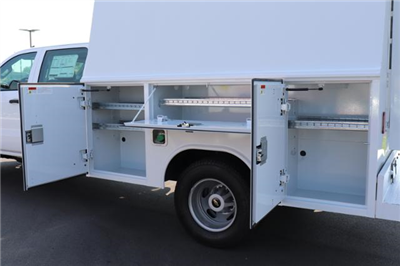 2018 Silverado 3500 Crew Cab DRW 4x4,  Reading Panel and Tapered Panel Service Utility Van #JF263292 - photo 10