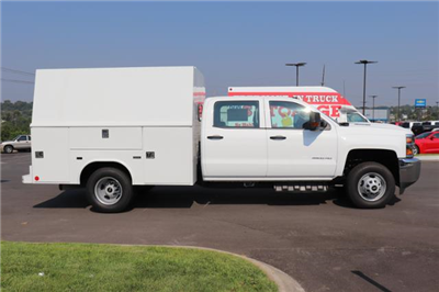 2018 Silverado 3500 Crew Cab DRW 4x4,  Reading Panel and Tapered Panel Service Utility Van #JF263292 - photo 4