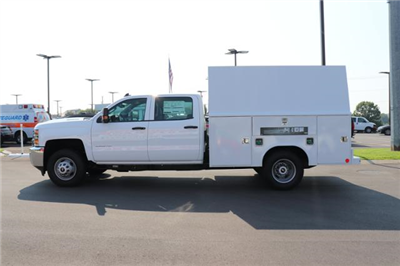 2018 Silverado 3500 Crew Cab DRW 4x4,  Reading Panel and Tapered Panel Service Utility Van #JF263292 - photo 7