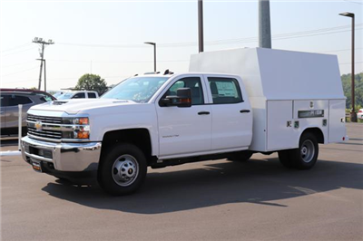 2018 Silverado 3500 Crew Cab DRW 4x4,  Reading Panel Service Body #JF263292 - photo 1